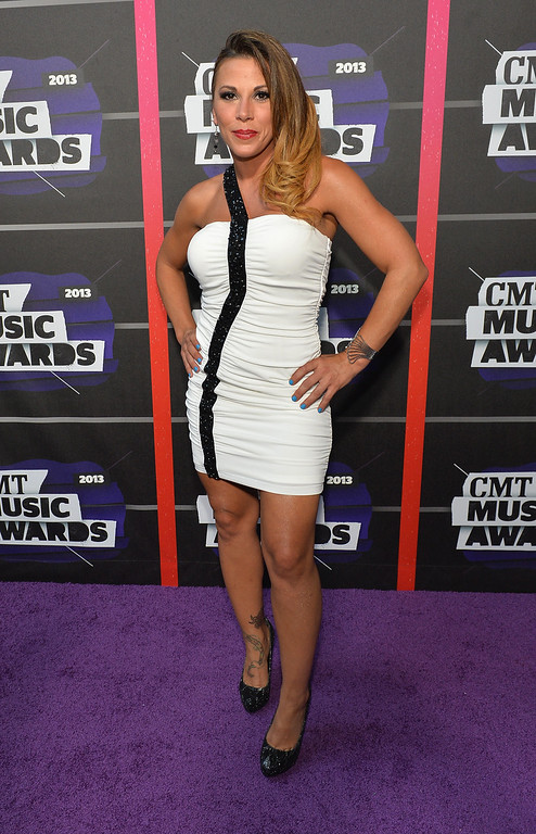. NASHVILLE, TN - JUNE 05: Professional wrestler Mickie James attends the 2013 CMT Music awards at the Bridgestone Arena on June 5, 2013 in Nashville, Tennessee.  (Photo by Rick Diamond/Getty Images)