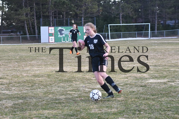 LUHS Girls' Soccer vs. Medford April 23, 2019