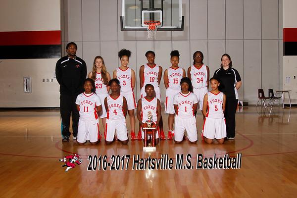 2016-2017 girls basketball MS