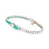 Art Deco Old European Cut Diamond and Emerald Bracelet 1