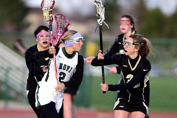 Novi Girls Lacrosse  4-23-2014