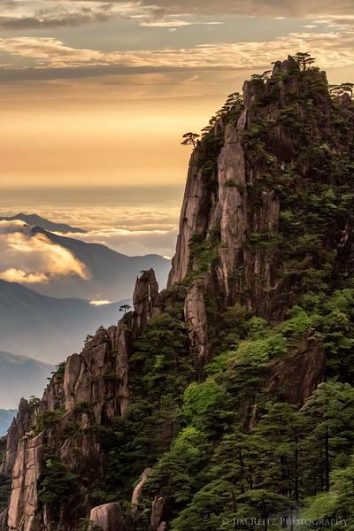 Sunset at Huangshan (Yellow Mountain), China