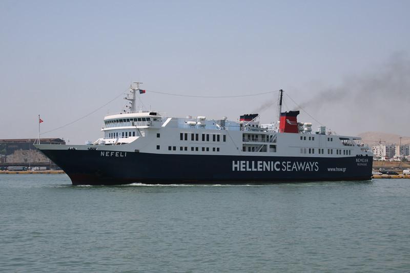 2011 - F/B NEFELI maneuvering in Piraeus.