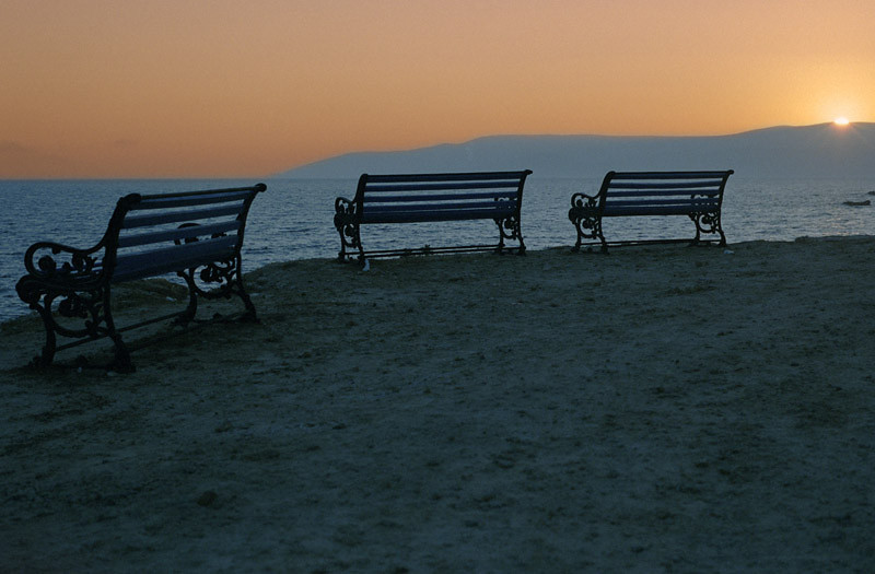 Benches in Koufonisia, Greece (August 2006)