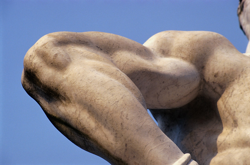Arm of Statue at Foro Italico in Rome, Italy