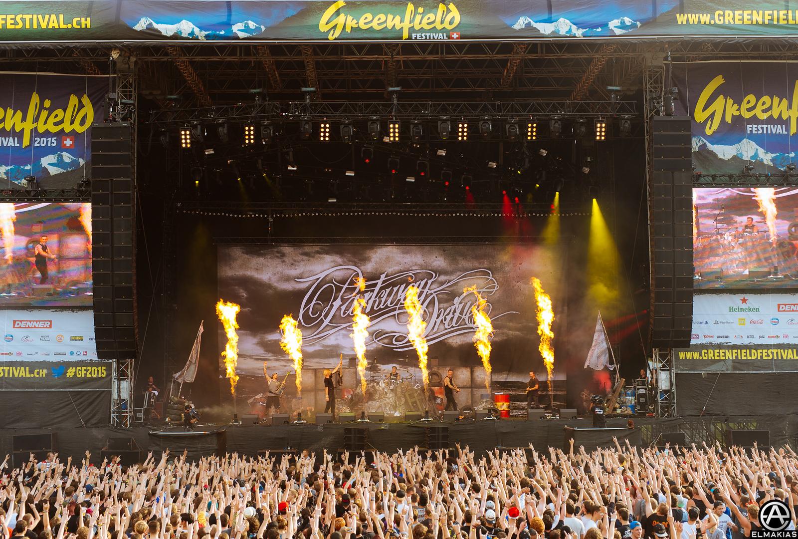Parkway Drive live at Greenfield Festival in Interlaken, Switzerland