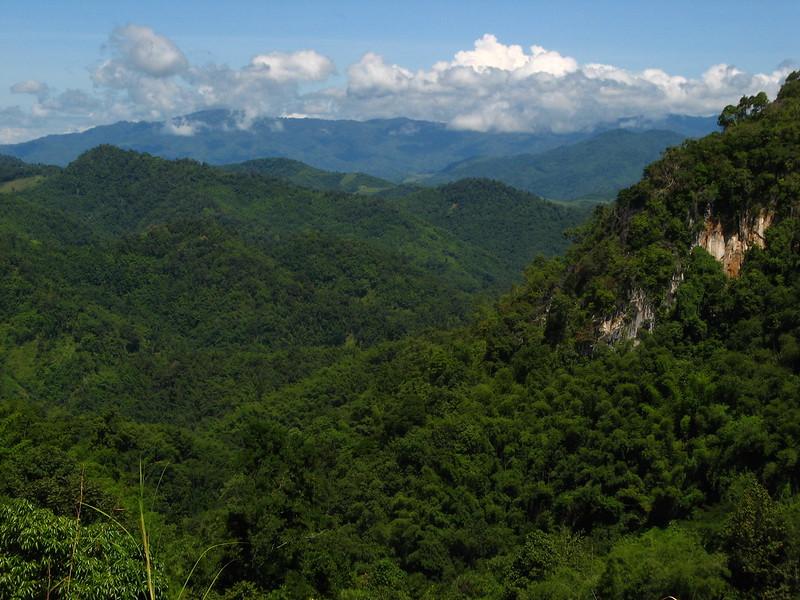 View looking north towards Doi Mae Salong.