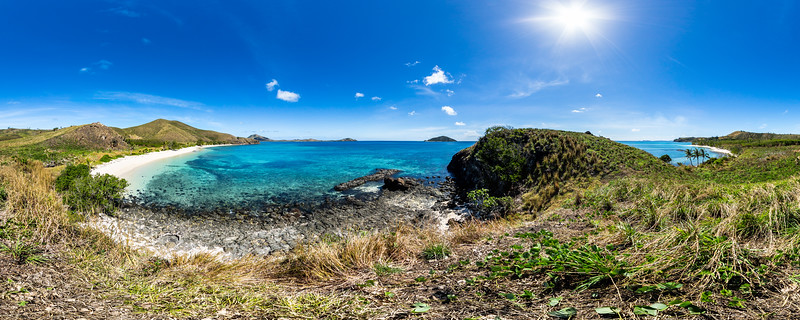 Walking around Paradise Beach - Yasawa - Fiji Islands