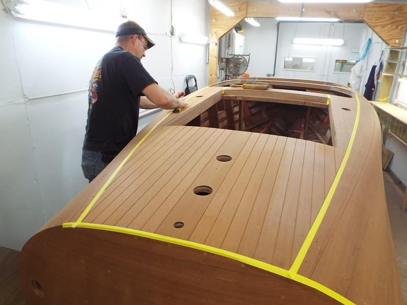 Final sanding before stain.