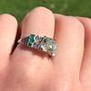 2.10ct Art Deco Peruzzi Cut Diamond Ring, GIA W-X SI2 4