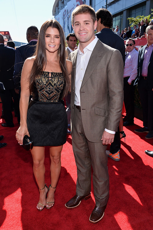 . NASCAR drivers Danica Patrick (L) and Ricky Stenhouse attend The 2013 ESPY Awards at Nokia Theatre L.A. Live on July 17, 2013 in Los Angeles, California.  (Photo by Alberto E. Rodriguez/Getty Images for ESPY)