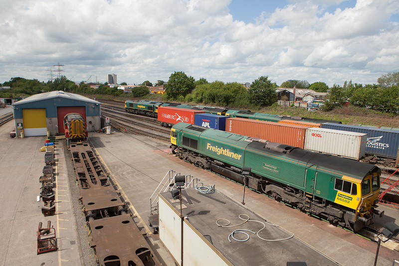 Freightliner 66502 in TMD Southampton Maritime.
