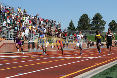D1 Boys' and Girls' 100 Prelims - 2014 MHSAA LP T&F Finals