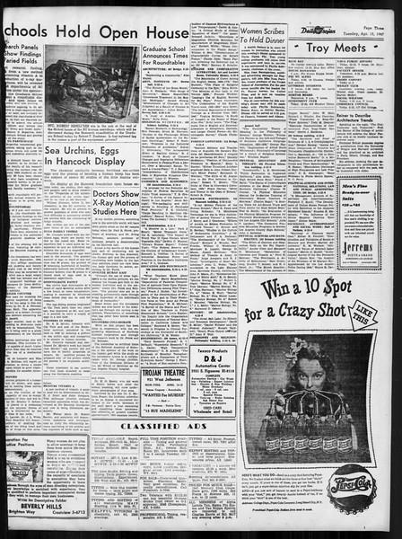 Daily Trojan, Vol. 38, No. 114, April 15, 1947