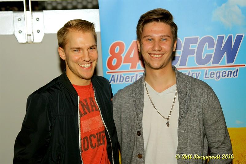 Jesse Mast with A.J. Keller, drive home host, at 840 CFCW - Edmonton 129