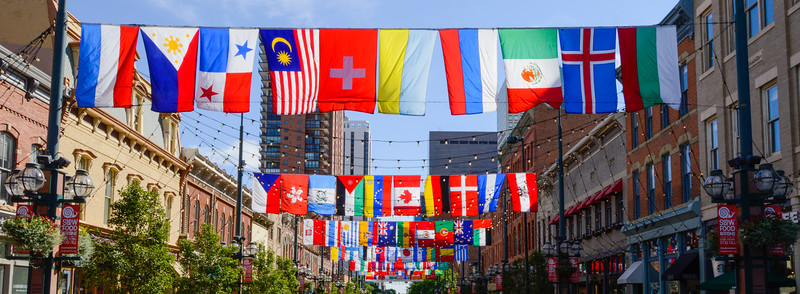 Flags over Larimer