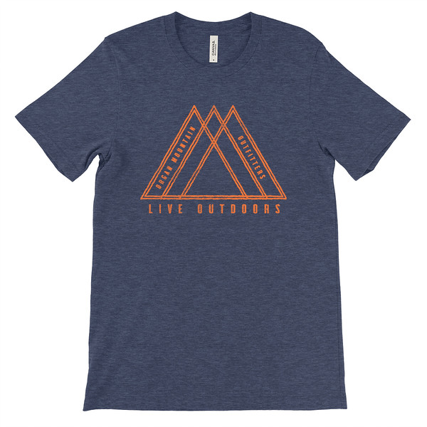 Organ Mountain Outfitters - Outdoor Apparel - Youth T-Shirt - Live Outdoors Tee - Heather Navy.jpg