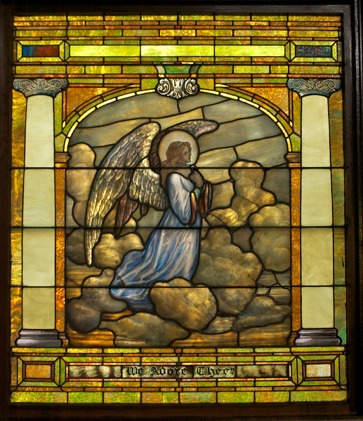 """This window and the next two form the """"Ascension Triptych."""""""