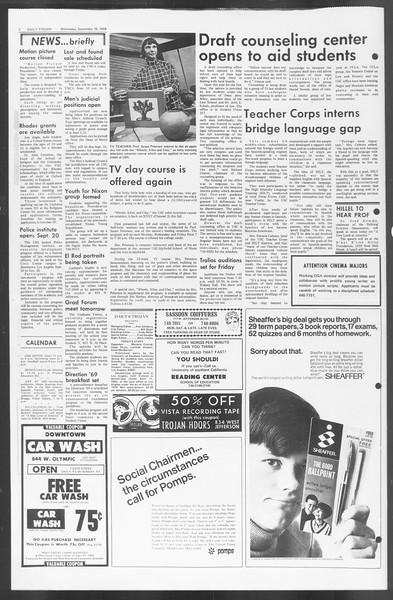 Daily Trojan, Vol. 60, No. 3, September 18, 1968