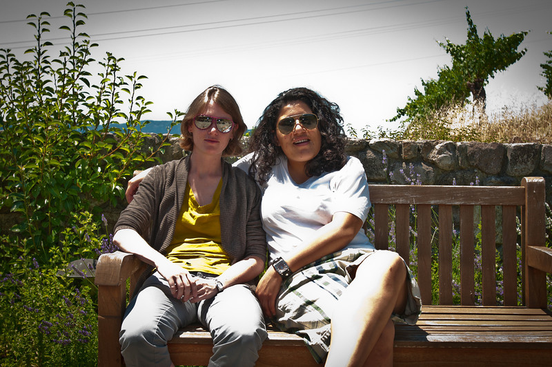 Silvia and Anna enjoyed a nice rest outside at Robert Sinsky