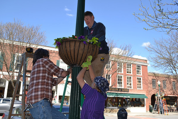 Flower Baskets In Woodstock