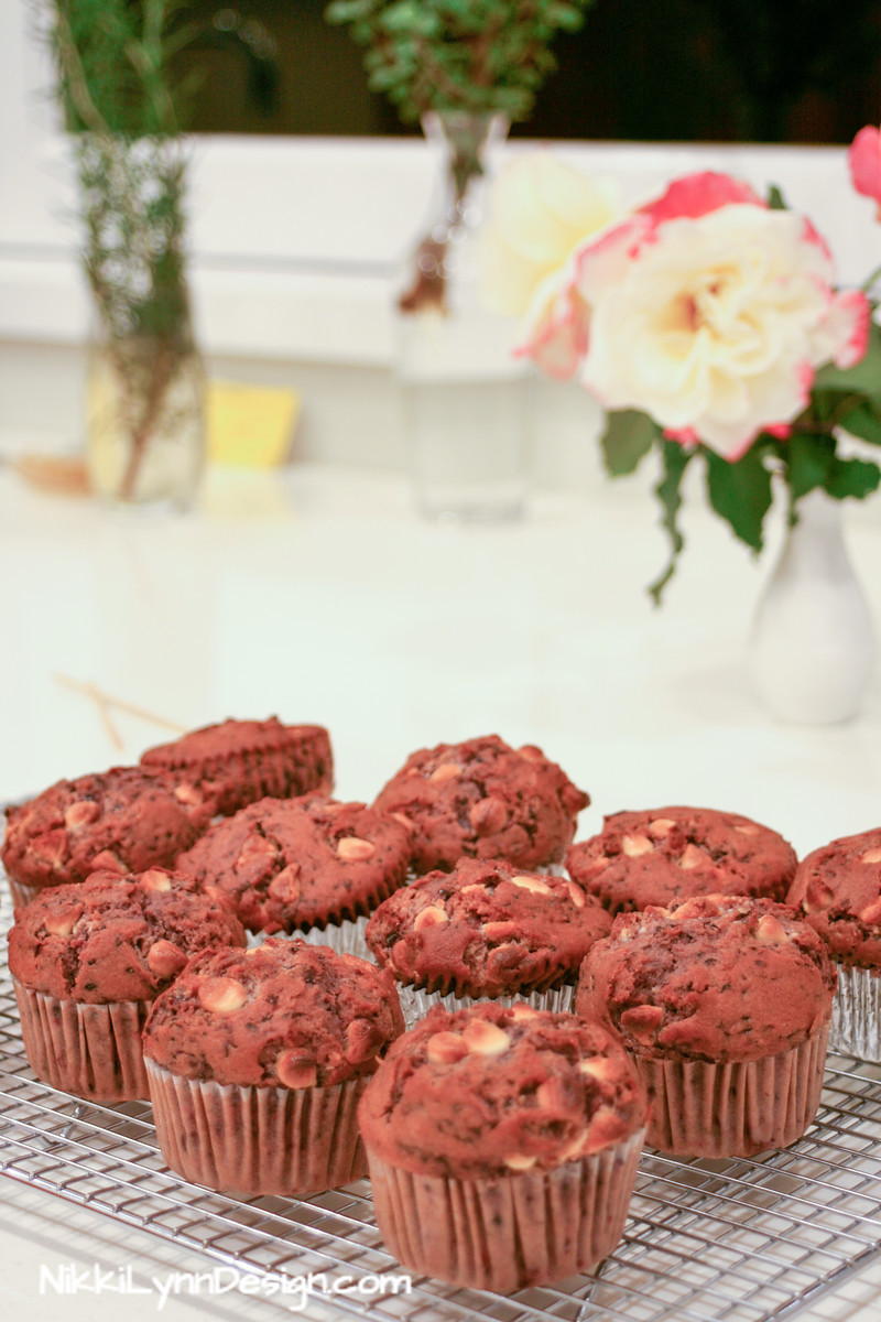 Mulberry & White Chocolate Muffins