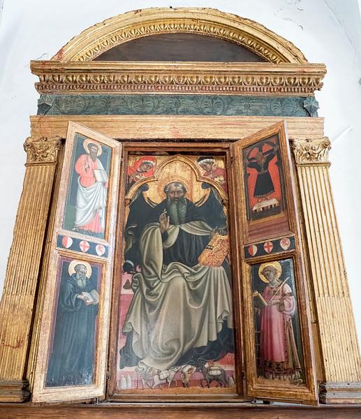 S. Antonio Abate e Santi painting, 1442