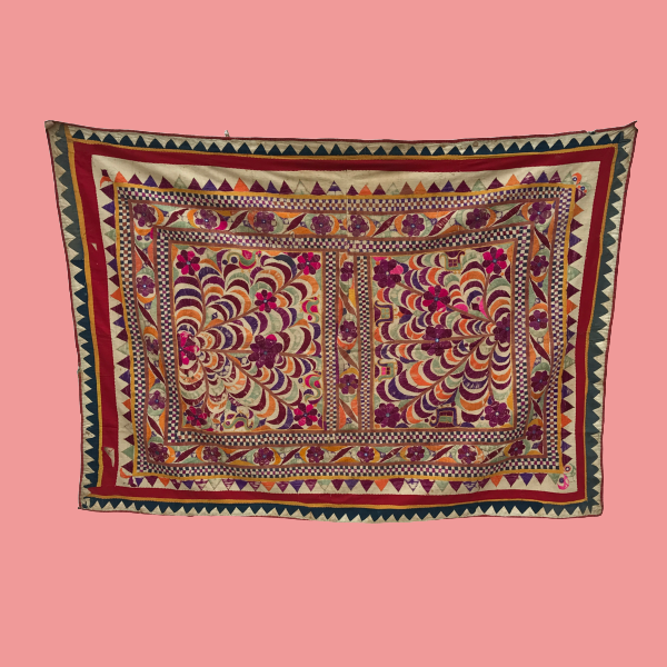 Indian Textile Wall Hanging Art by Decorative Salvage.png