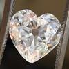 3.47ct Antique Heart Shaped Diamond GIA F SI2 19
