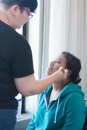 Kristen getting ready