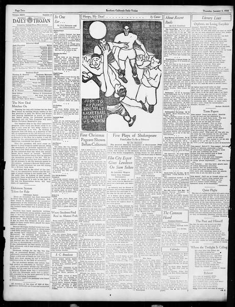 Daily Trojan, Vol. 26, No. 57, January 03, 1935