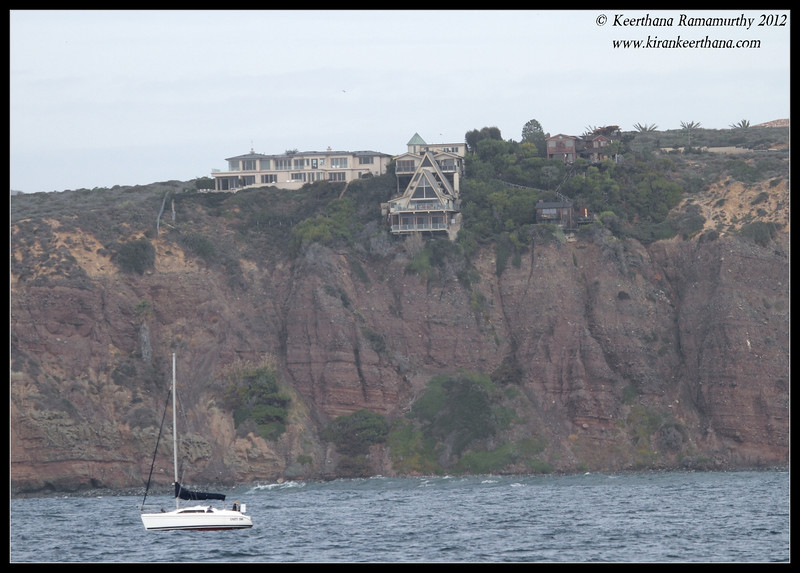 House on the cliff, Dana Point, Orange County, California, January 2012