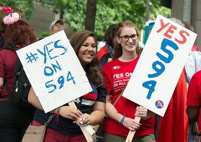 YES on 594 at Seattle Pride Parade  June 29, 2014