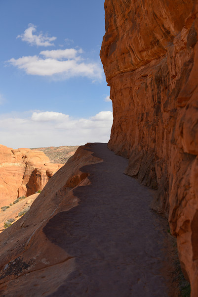 Trail to Delicate Arch.  Arches National Park, Utah