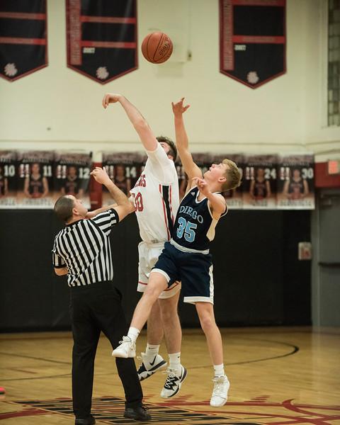 2020 Boys Varsity Basketball:  Hall-Dale vs Dirigo