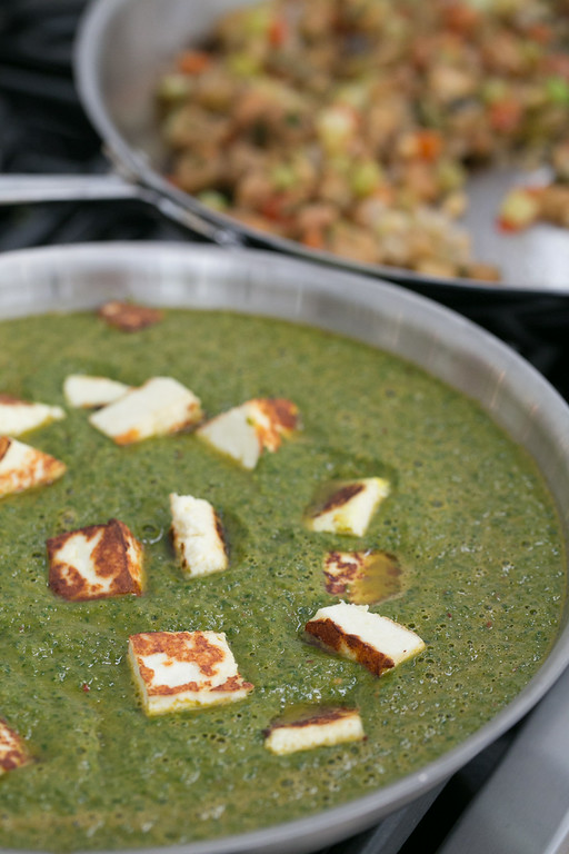 . Palak Paneer: Creamy Spinach with Fried Cheese from Carla Hall.(Provided by Galdones Photography/FOOD & WINE)