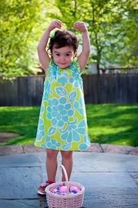 Showing some ballet stylings in her Easter dress