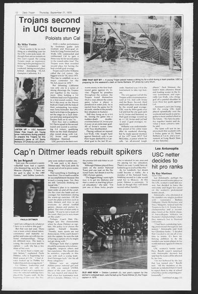 Daily Trojan, Vol. 75, No. 4, September 21, 1978