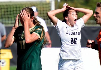 Photos: CSU Played Colorado in Soccer in Boulder