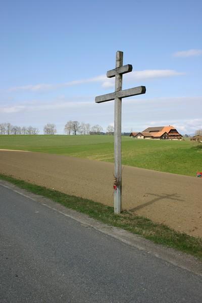 Lothringerkreuz auf der Stocki, kurz nach der Gemeindegrenze Willisau-Zell