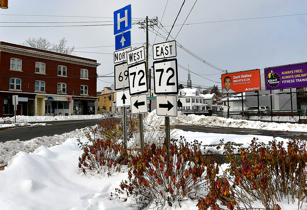 12/6/2019 Mike Orazzi | StaffrThe intersection of Routes 69 and 72 in Bristol.