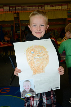 Kindergarten Self-Portraits photos by Gary Baker