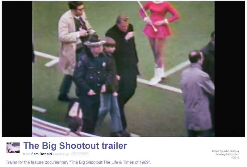 """Framegrab from the trailer to the 2013 film """"The Big Shootout: The Life and Times of 1969"""""""
