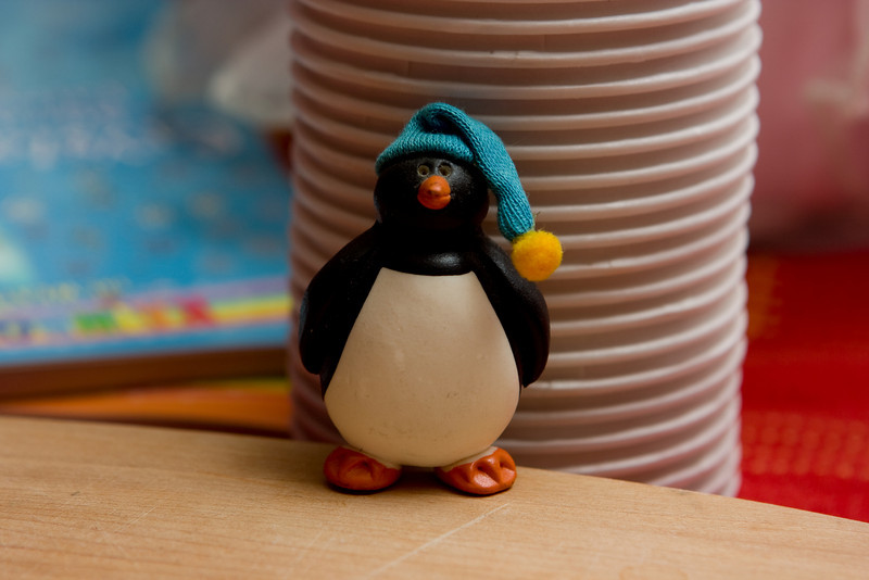 A penguin from Myra.