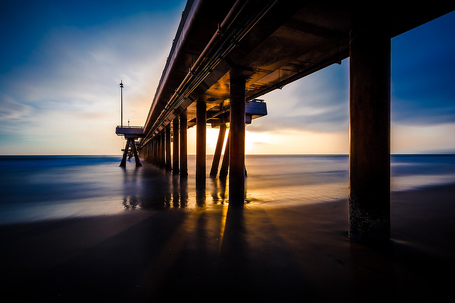 Long Exposure of the Venice Beach Pier.