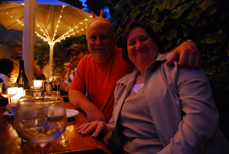 Ted and Margo at The Forge in the Forest, in Carmel.