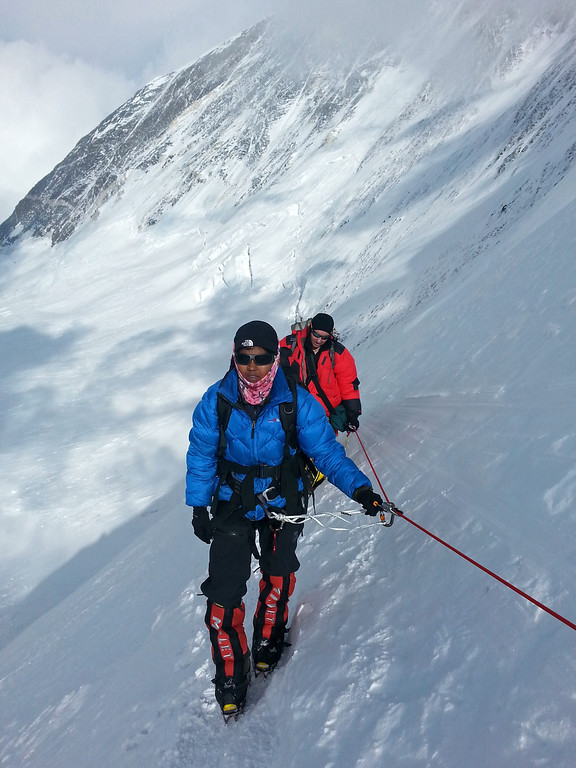 . In this photograph received from the SOCIAL WELFARE RESIDENTIAL EDUCATIONAL INSTITUTIONS SOCIETY on June 2, 2014 and taken on May 3, 2014, Indian mountaineer Poorna Malavath (L) looks on during a climb in the Mount Everest region on the Tibetan side of the mountain in China.  AFP PHOTO/SOCIAL WELFARE RESIDENTIAL EDUCATIONAL INSTITUTIONS SOCIETY/AFP/Getty Images