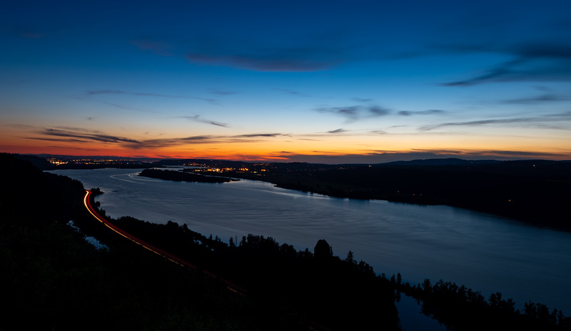 2019 06-28 Sunset over the Columbia