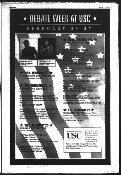 Daily Trojan, Vol. 151, No. 26, February 23, 2004