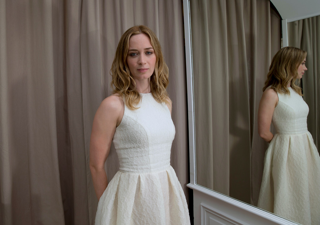 . Actress Emily Blunt poses for a portrait at the 68th international film festival, Cannes, southern France, Wednesday, May 20, 2015. (Photo by Joel Ryan/Invision/AP)